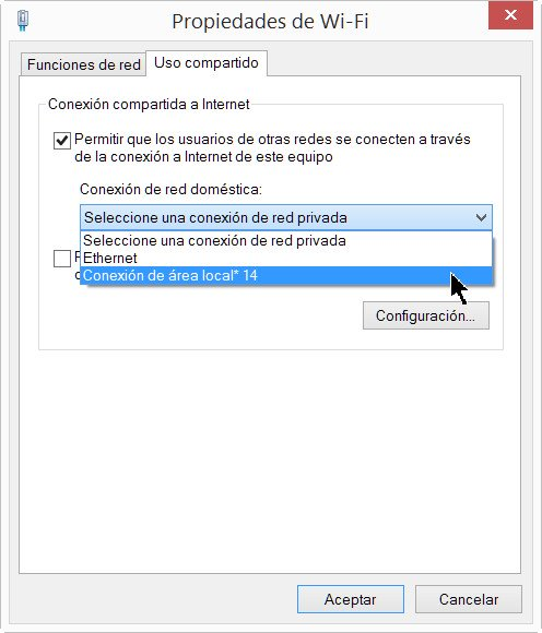 Imagen - Crear un punto de acceso Wi-Fi con Windows 8.1
