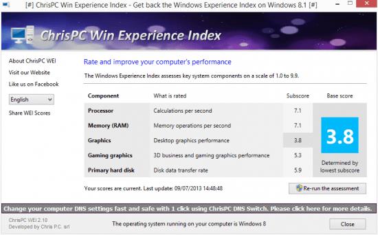 Imagen - Calcula la Evaluación de la experiencia en Windows 8.1