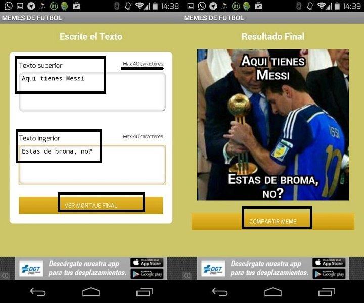 Imagen - Crea memes de fútbol para WhatsApp