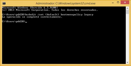 Imagen - Activar F8 durante el arranque de Windows