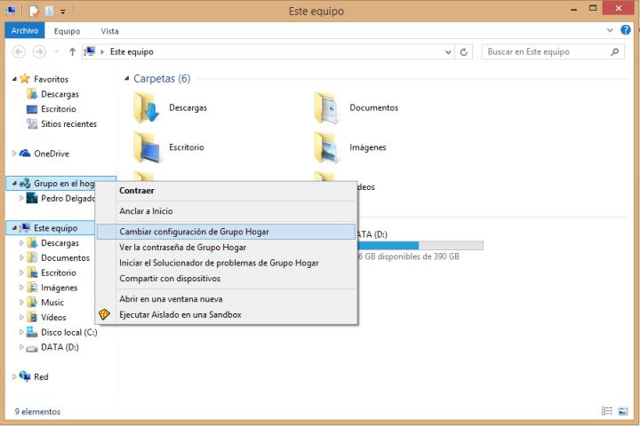 """Imagen - Eliminar """"Grupo en el Hogar"""" en Windows"""