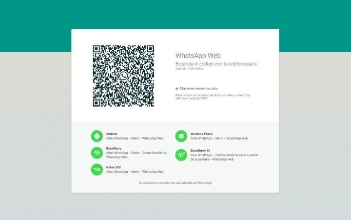 Imagen - Cómo usar WhatsApp Web desde un tablet