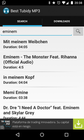 Imagen - Descarga música en mp3 desde Android