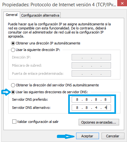 how to add dns to ipv4 windows 8