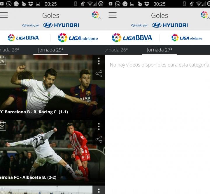 Imagen - Cómo ver los goles de la Liga BBVA en el móvil