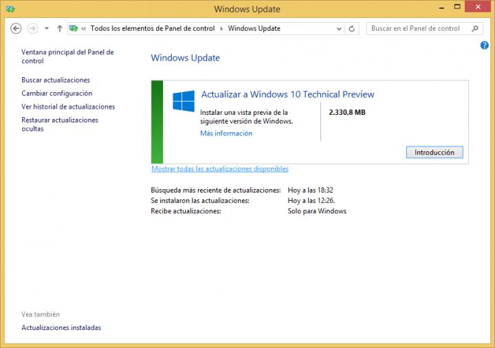 Imagen - Cómo actualizar a Windows 10 desde Windows Update