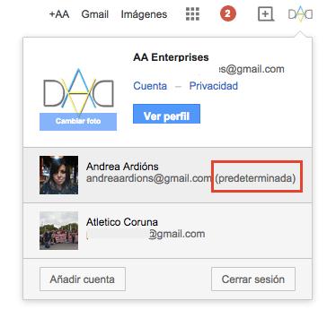 Imagen - Cómo cambiar la cuenta predeterminada de Google