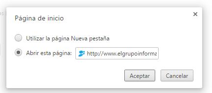 Imagen - Cómo cambiar la página de inicio del navegador
