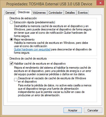 Imagen - Truco: Aumenta el rendimiento de un disco duro externo