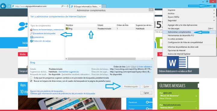 Imagen - Cómo cambiar el buscador por defecto del navegador