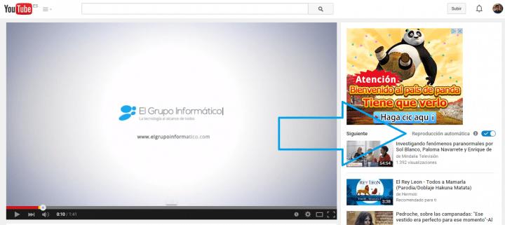 Imagen - Desactivar la Reproducción automática de vídeos en YouTube