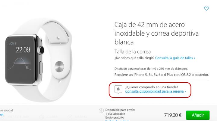 Imagen - Reservar Apple Watch en España