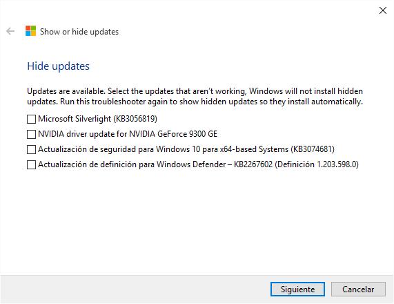 Imagen - Cómo ocultar o bloquear actualizaciones en Windows 10