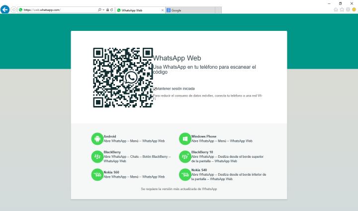 Imagen - Cómo usar WhatsApp Web en Internet Explorer o Microsoft Edge