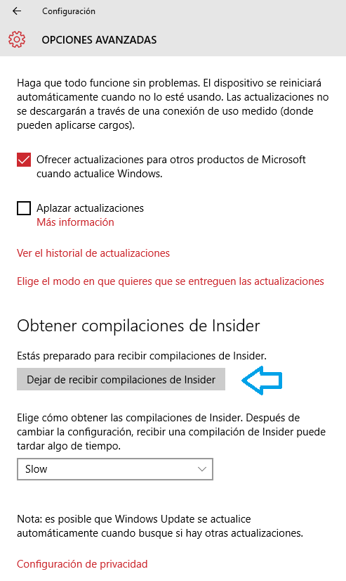Imagen - Cómo dejar de recibir builds de Windows 10 Insider