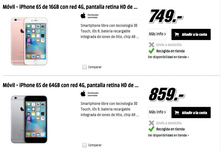 Iphone 6s media markt baratas