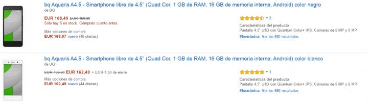 Imagen - 7 webs donde comprar bq Aquaris A4.5