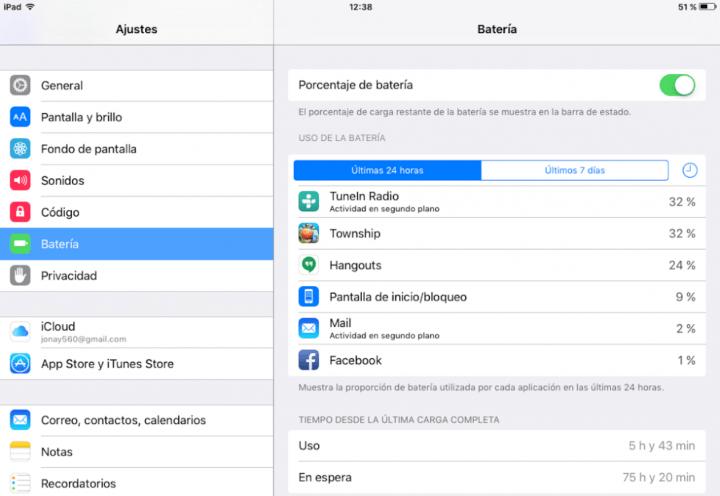 Imagen - Cómo ver las estadísticas de la batería en iOS 9