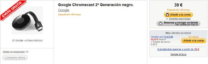 Imagen - Dónde comprar el Chromecast más barato