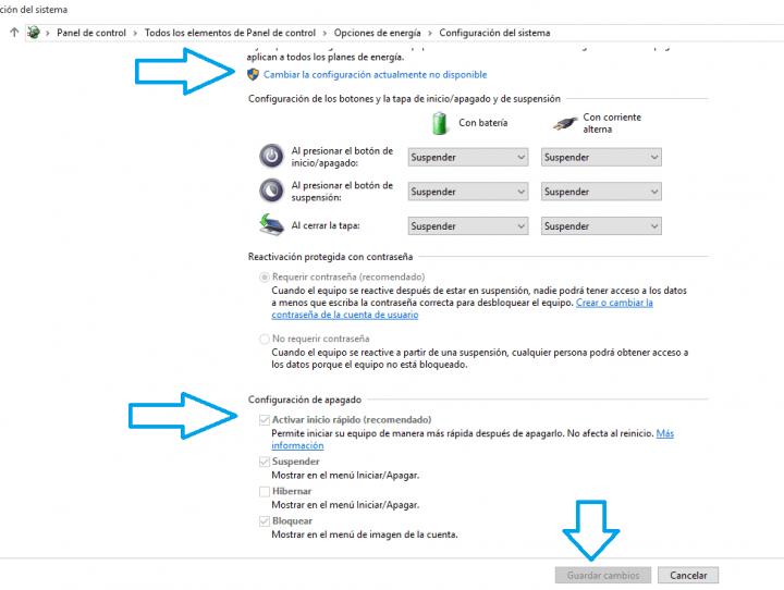 Imagen - Cómo activar el inicio rápido de Windows 10