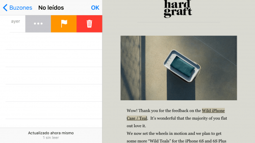 Imagen - Mail vs Outlook en iOS 9