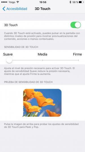 Imagen - Cómo mejorar la sensibilidad de la pantalla 3D Touch del iPhone 6s