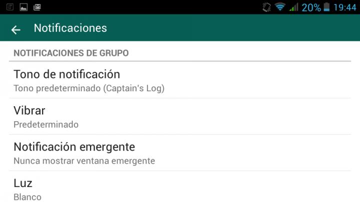 Imagen - Cómo activar o desactivar las notificaciones emergentes en WhatsApp