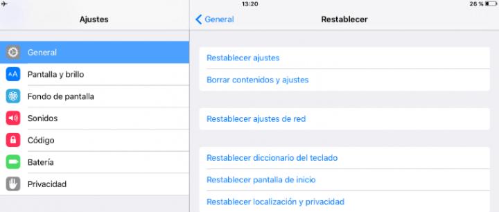 Imagen - Cómo restablecer los ajustes en iOS