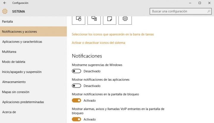 Imagen - Cómo desactivar las notificaciones de Windows 10