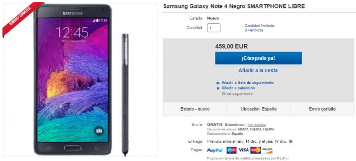 Imagen - 5 webs donde comprar el Galaxy Note 4
