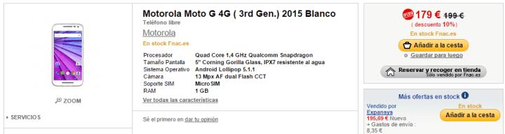 Imagen - 5 tiendas donde comprar el Moto G