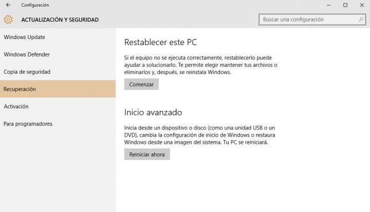 Imagen - Reinstala o formatea Windows 10 sin perder tus archivos