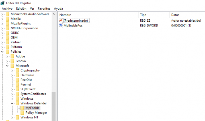 Imagen - Cómo activar la protección de adware o PUA de Windows Defender