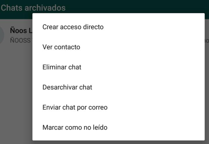 Imagen - Cómo archivar conversaciones en WhatsApp