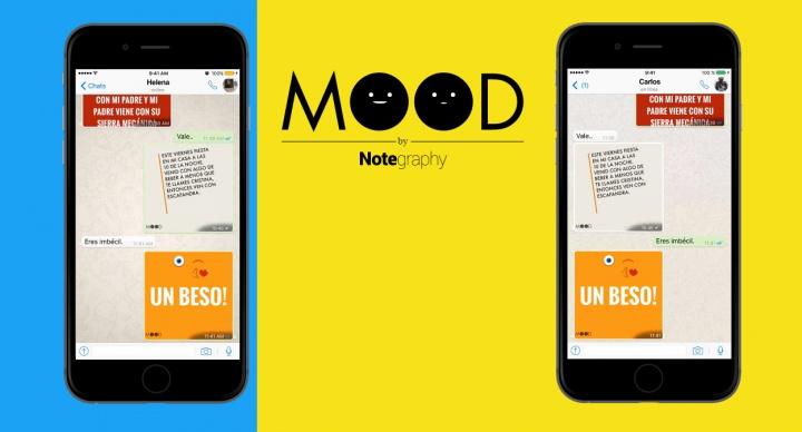 Mood, el teclado para iOS que crea imágenes con nuestros mensajes