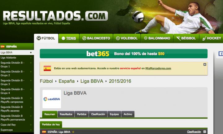 Imagen - Cómo ver los resultados de la Liga BBVA en Internet
