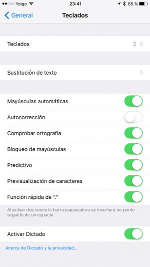 Imagen - Cómo desactivar el corrector de iOS