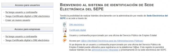 Imagen - Cómo obtener usuario y contraseña para SEPE