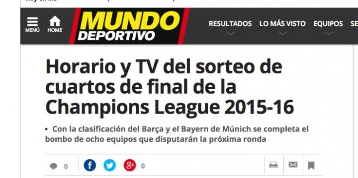 Imagen - Cómo ver el sorteo de la Champions League de cuartos en Internet