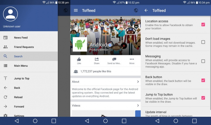 Imagen - Toffeed for Facebook, una app alternativa y ligera para Facebook