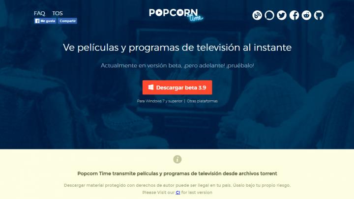 Imagen - ¿Qué versión de Popcorn Time es la oficial?