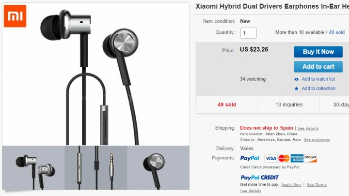 Imagen - Dónde comprar los Xiaomi Hybrid Earphones