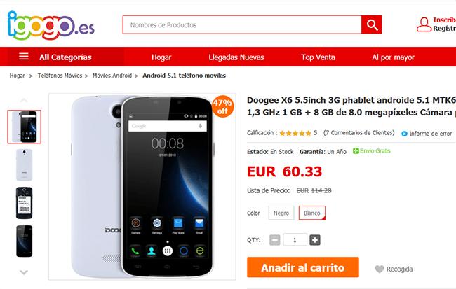 Imagen - Dónde comprar el Doogee X6
