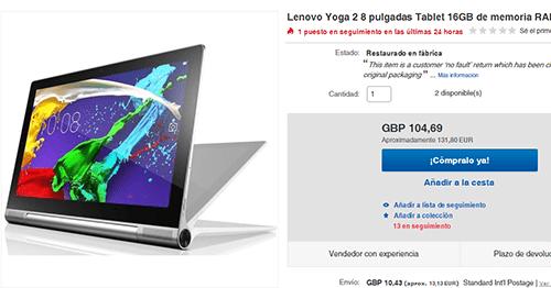 Imagen - Dónde comprar Lenovo Yoga Tablet 2