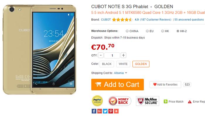 Imagen - 7 tiendas donde comprar el Cubot Note S