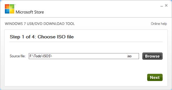 ISO en USB