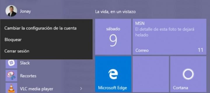 Imagen - Cómo cerrar sesión o bloquear el ordenador en Windows 10