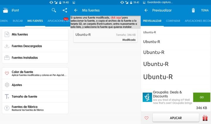 Imagen - Utiliza tu propia letra como fuente de tu terminal Android