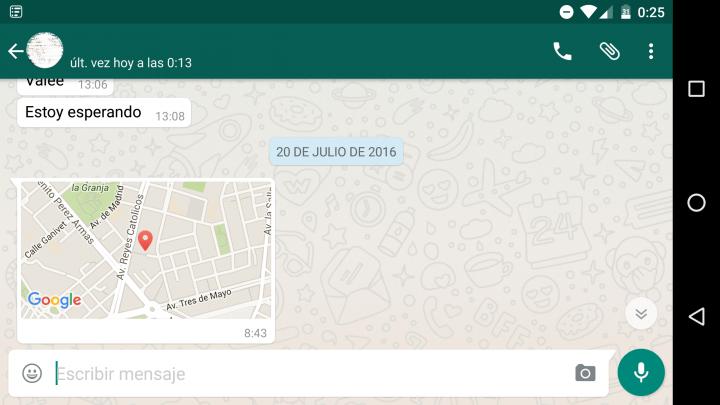 Imagen - Cómo reconocer una ubicación falsa de WhatsApp