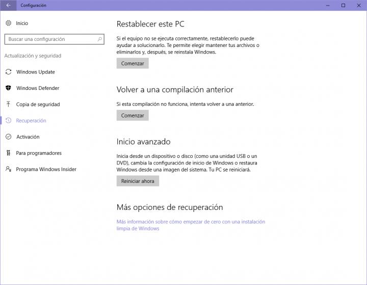 Imagen - Cómo desinstalar Windows 10 Anniversary Update